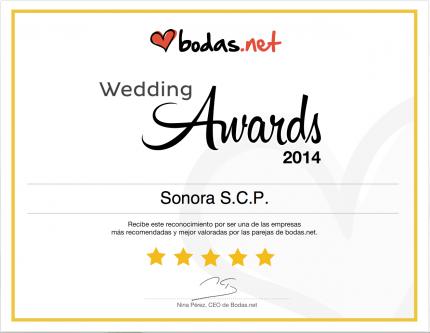Premio awards 2014 de Bodas.net